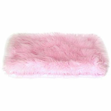 The Dog Squad All Plush Kennel Pet Bed Cover, Pink Shag