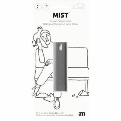 Mist - AM Get Clean - All in one screen cleaning unit with sleeve, blister pack, 10,5ml. Grey