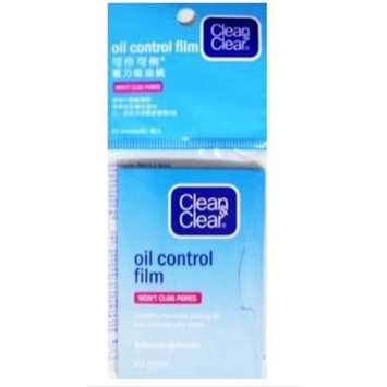 Clean & Clear Oil Control Film Blotting Paper, Oil-absorbing Sheets for Face, 60 Sheets