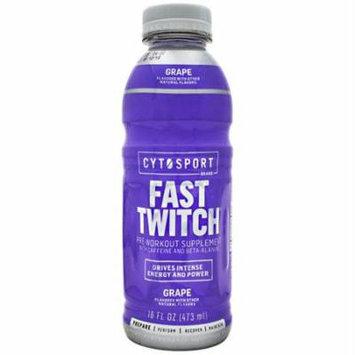 Cytosport Fast Twitch, Grape, 12 (16 fl oz.) Bottles