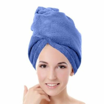 New Fast Dry Microfiber Hair Drying Towels Turbans Wrap Super Absorbent -Blue