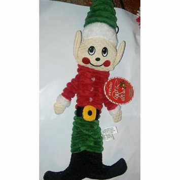 12 Inch Holiday Christmas Floppy Crinkle Elf With Squeaker Dog Toy By Petlou