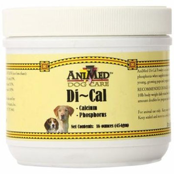 AniMed Di-Cal Powder Supplemental Calcium and Phosphorus for Horses 16-Ounce