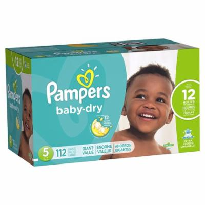 Pampers Baby-Dry Disposable Diapers Size 5, 128 Count, GIANT