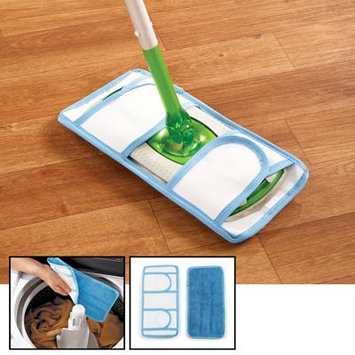 Reusable Mop Cleaning Pads - Set ofwith stay secure