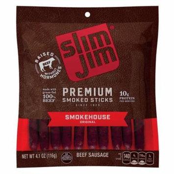 Slim Jim Premium Smoked Sticks, Smokehouse Original Flavor, 4.1 Oz. Bag