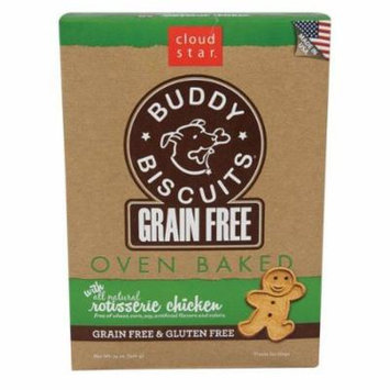 Cloud Star Grain Free Oven Baked Buddy Biscuits Dog Treats, Rotisserie Chicken,
