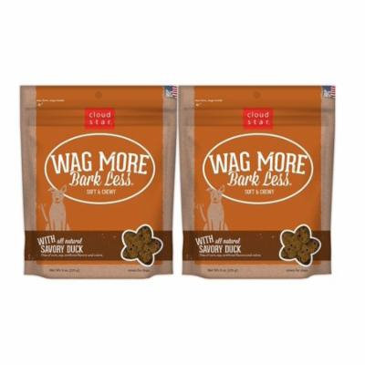 Cloud Star Wag More Bark Less Original Soft & Chewy Dog Treats (Pack of 2), Savory Duck