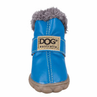 Topcobe Pet Shoes Winter Dog Cat, Pet Snow Boots Warm Puppy Booties, T031BL3 Waterproof Pet Shoes for Puppy (Blue, Size 3: 1.57