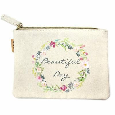 StylesILove 100% Cotton Multi-use Makeup Cosmetic Travel Clutch Pouch Bag (Beautiful Day)