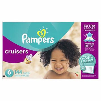Pampers Cruisers Disposable Diapers Size 6, 144 Count, ONE MONTH SUPPLY