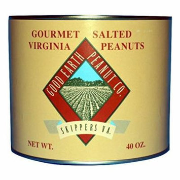 Gourmet Lightly Salted Virginia Peanuts by The Good Earth Peanut Co., 40-Ounce Tin