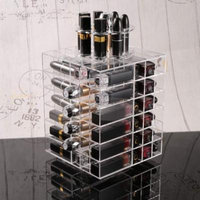 Acrylic Makeup Cosmetic Organizer Spinning Lipstick Storage Holder Tower Display Stand PAGACAT