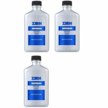 Zirh Refresh Invigorating Astringent, 6.7 oz (Pack of 3) + 3 Count Eyebrow Trimmer