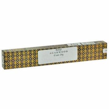 Balaji Agarwood, Indian Natural Agarwood Incense in 25 gram pack