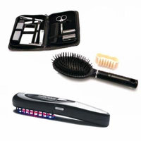 Men's Grooming Hair Growth Comb Light Therapy Brush 13 piece Traveling Kit