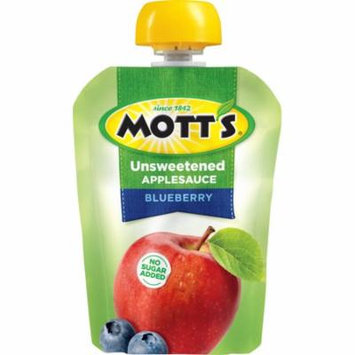 Mott's Unsweetened Applesauce Pouches, Blueberry, 3.2 Oz, 24 Count
