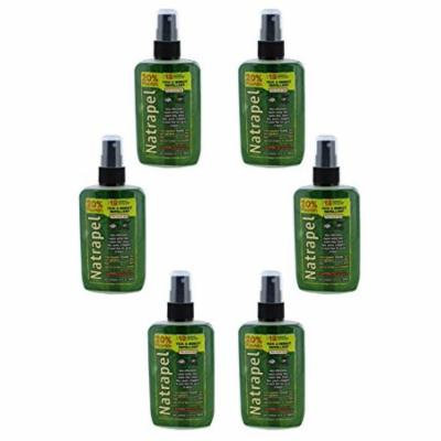 Natrapel 8 Hour Tick and Insect Repellent Pump 3.4 oz (Pack of 6)