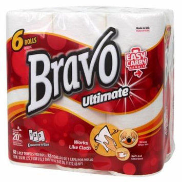 BRAVO Ultimate Premium Paper Towels 6-Pack (4 Packs of 6 Rolls, 88 Sheets per Roll)