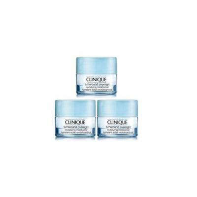 clinique turnaround overnight revitalizing moisturizer 1.5 oz/45 ml (3x0.5 oz each)