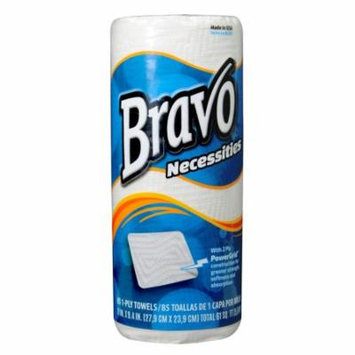 BRAVO Necessities 2-Ply Paper Towels 85Ct (30 Rolls of 85 Sheets)