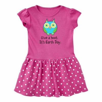 Give a Hoot. It's Earth Day. Cute owl Infant Dress