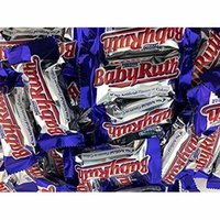 Baby Ruth Fun Size Bars,Small 3 LB Bulk Candy