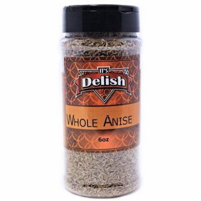 Whole Anise Seeds by Its Delish, 6 Oz. Medium Jar