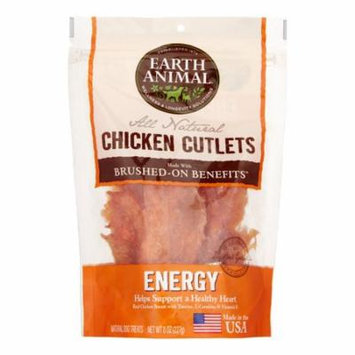 Earth Animal Energy Brushed-On Benefit Chicken Cutlets Dog Treats, 8 Oz