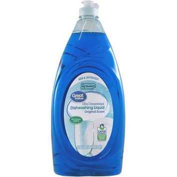 Great Value Ultra Concentrated Dishwashing Liquid, Original Scent, 40 fl oz