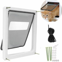 Pet Door White, Extra Large for pet to 90 lbs, Telescoping Frame BTC