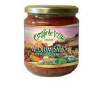 OrganicVille Medium Organic Salsa, 16 OZ (Pack of 6)