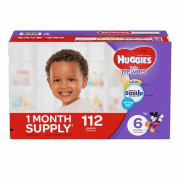 HUGGIES Little Movers Diapers, Size 6, 112 Diapers (Packaging May Vary) 1 Month supply Free Shipping