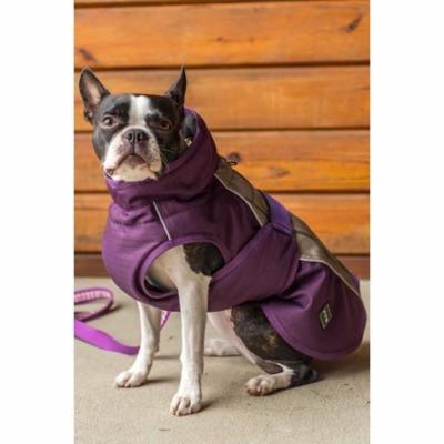 FITS Dog Coat (Sand Check/Plum, M)