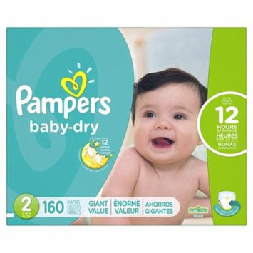 Pampers Baby-Dry Disposable Diapers Size 2, 222 ct. (12-18 lb.) Economy Pack