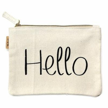StylesILove 100% Cotton Multi-use Makeup Cosmetic Travel Clutch Pouch Bag (Hello)