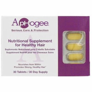 6 Pack - Aphogee Nutritional Supplement For Healthy Hair 30 ea