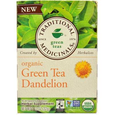 Traditional Medicinals Dandelion Green Tea Bags, 16 count, (Pack of 3)