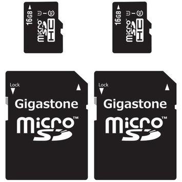 Gigastone MicroSD HC 16GB C10 U1 With SD Adapter 2-Pack Bundle