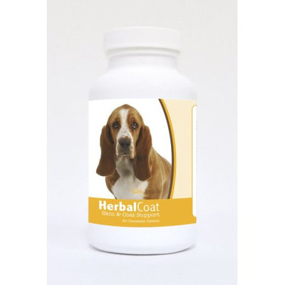 Healthy Breeds Pet Supplements 60 Basset Hound Natural Skin/Coat Support Chewable Tablets for Dogs