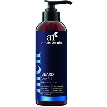 ArtNaturals Natural Beard Shampoo Wash - (8 Fl Oz/236ml) - Infused with Aloe Vera, Tea Tree and Jojoba Oil - Sulfate Free
