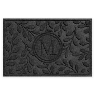 Weather Guard™ 23-Inch x 35-Inch Brittany Leaf Door Mat in Charcoal