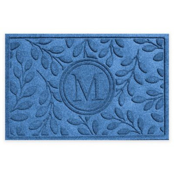 Weather Guard™ 23-Inch x 35-Inch Brittany Leaf Door Mat in Medium Blue