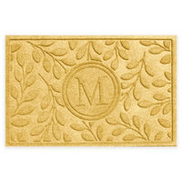 Weather Guard™ 23-Inch x 35-Inch Brittany Leaf Door Mat in Yellow