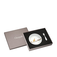 Christofle Savanne Bowl & Spoon Set
