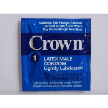 Okamoto CROWN condoms - Also available in quantities of 12, 25, 50 - (100 condoms)