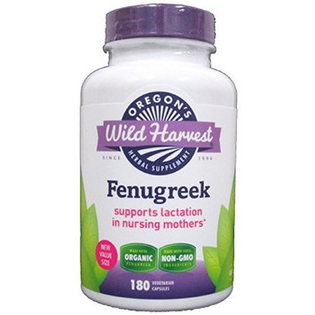 Oregon's Wild Harvest - Organic Fenugreek - 180 Vegetarian Capsules