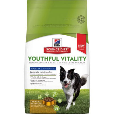 Hills Hill's Science Diet Youthful Vitality Adult 7+ Chicken & Rice Recipe Dog Food, 12.5 lbs.