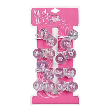 Style It Up Large Clear Hair Bobbles