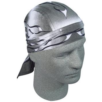 Zan Headgear Flydanna Headwrap Tank Flame Silver (Silver, OSFM)